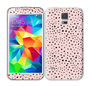 Pink with dots Skin Galaxy S5