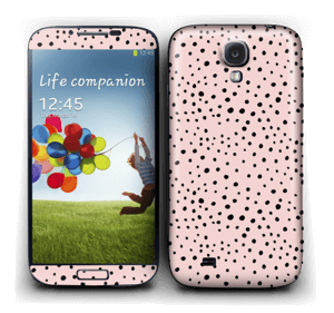 Pink with dots Skin Galaxy S4
