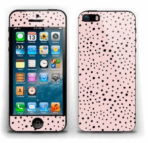 Black dots on pink! skin IPhone 5s