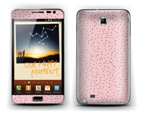 Small dots on pink! Skin Galaxy Note