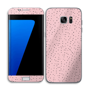 Small dots on pink! Skin Galaxy S7 Edge