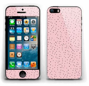Small dots on pink! Skin IPhone 5s