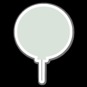 Grüner Ballon sticker