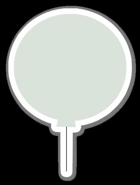 Green balloon sticker