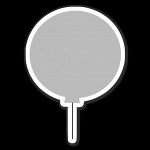 Grå ballong sticker