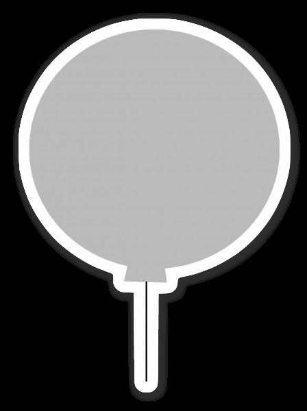 Grijze ballon sticker