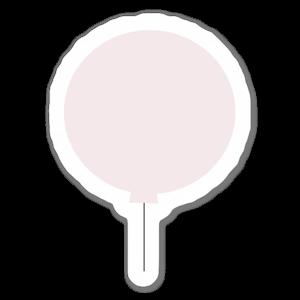 Rosa ballong sticker