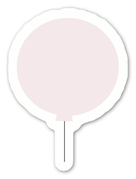 Roze ballon sticker