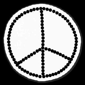 Peacemärke sticker