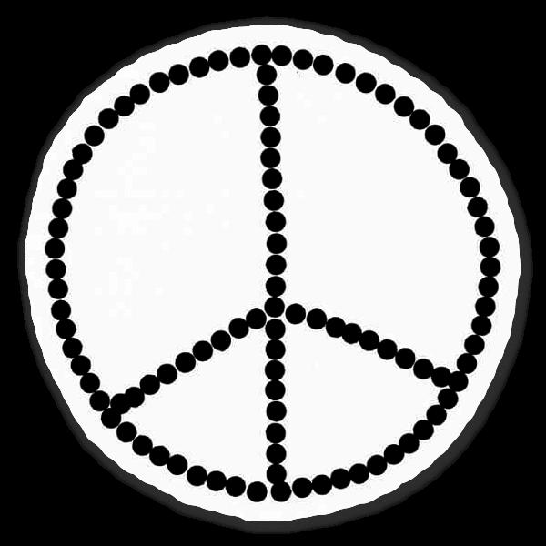 Peaceteken sticker