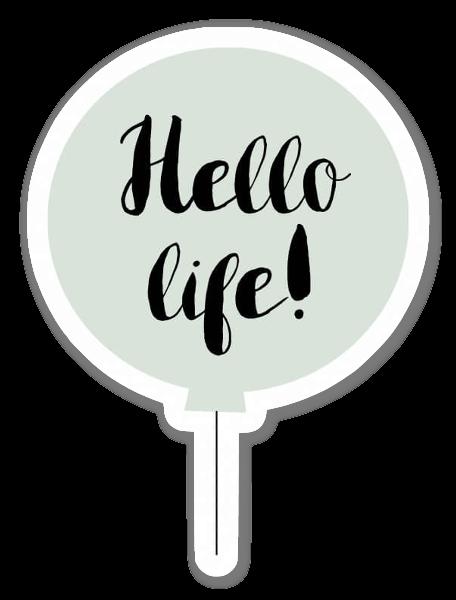 Hello life! verde sticker