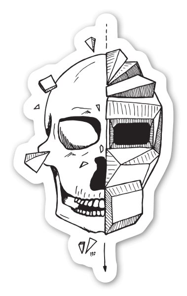 Shattered sticker