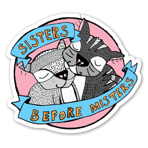 SISTERS PINK STICKER