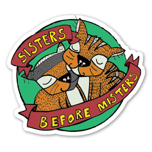 SISTERS GREEN STICKER