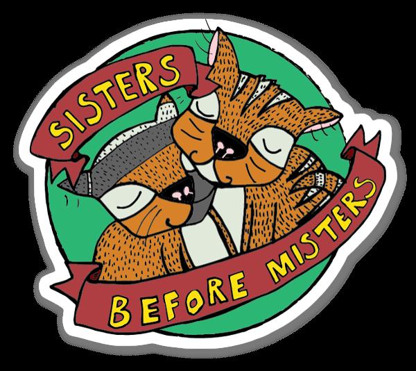 SISTERS Verde pegatina