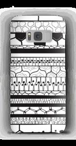 Schwarzes Muster Handyhülle Galaxy S8