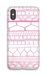 Pink stripes case IPhone X