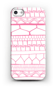 Motifs rose & blanc Coque  IPhone 5/5S