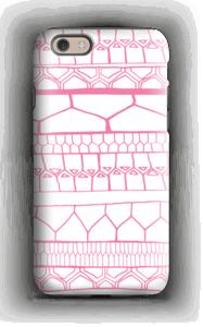 Pink stripes case IPhone 6 tough