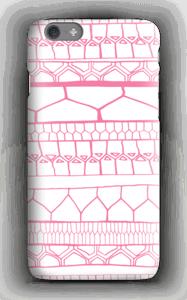 Motifs rose & blanc Coque  IPhone 6s