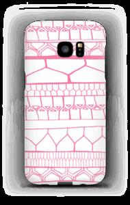 Striber i lyserødt cover Galaxy S7 Edge
