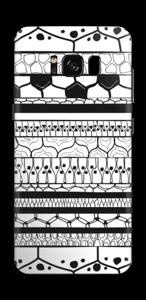 Schwarzes Muster Skin Galaxy S8