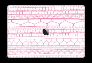 "Motifs rose & blanc Skin MacBook Pro 15"" 2016-"