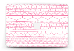 "Motifs rose & blanc Skin MacBook Pro Retina 13"" 2015"