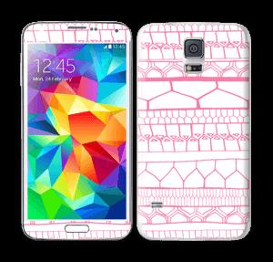 Pink stripes Skin Galaxy S5