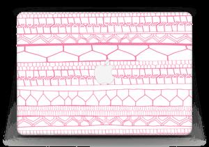 "Motifs rose & blanc Skin MacBook Air 13"""