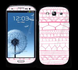 Pink stripes Skin Galaxy S3