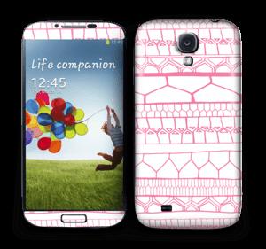 Pink stripes Skin Galaxy S4