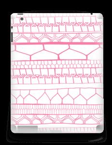 Motifs rose & blanc Skin IPad 4/3/2