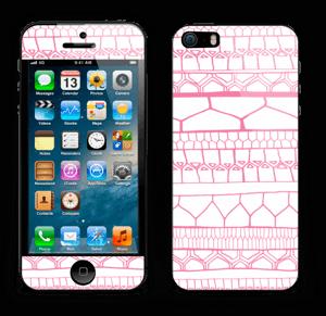 Pink stripes Skin IPhone 5s