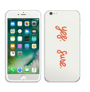 Yes, sure Skin IPhone 6 Plus