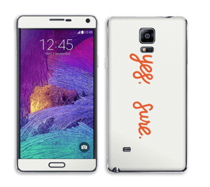 Yes, sure Skin Galaxy Note 4