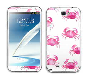Petits crabes roses Skin Galaxy Note 2