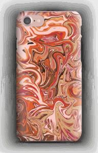 Flytande marmor i orange & rosa skal IPhone 7