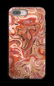 Oranssi marmori kuoret IPhone 8 Plus tough