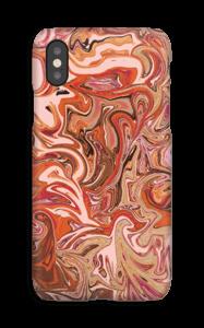 Flüssiges Marmor in Orange und Rosa Handyhülle IPhone XS