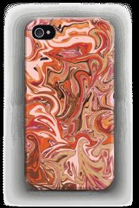 Oranssi marmori kuoret IPhone 4/4s