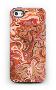 Flytande marmor i orange & rosa skal IPhone 5/5s tough
