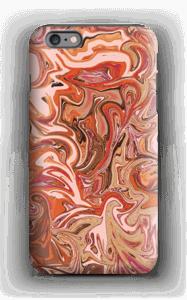 Oranssi marmori kuoret IPhone 6 Plus tough