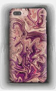 Lilla marmorvandfald cover IPhone 7 Plus