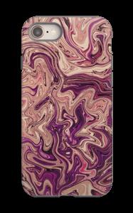 Lilla marmorvandfald cover IPhone 8 tough