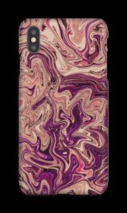 Liila marmori kuoret IPhone XS Max