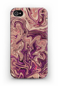 Liila marmori kuoret IPhone 4/4s