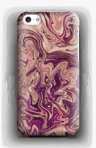 Lilla marmorvandfald cover IPhone 5c