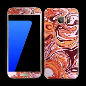 Flydende marmor Skin Galaxy S7