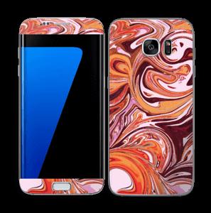 Flydende marmor Skin Galaxy S7 Edge